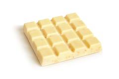 巧克力胡说的平板白色 库存照片
