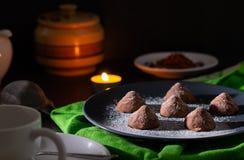 巧克力自创块菌 图库摄影