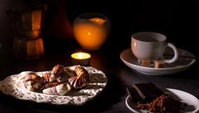 巧克力自创块菌 免版税库存照片