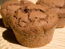 巧克力自创松饼 免版税库存图片