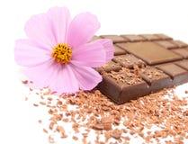 巧克力花 免版税库存照片