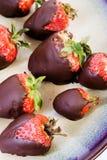巧克力草莓 免版税库存照片