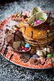 巧克力薄煎饼 图库摄影