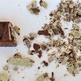 巧克力薄酥饼 免版税库存照片