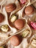 巧克力蛋白杏仁饼干用柠檬酱 库存照片