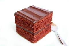 巧克力蛋糕。 免版税库存图片