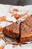 巧克力蛋糕切片 免版税库存照片