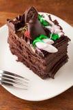 巧克力蛋糕切片 图库摄影