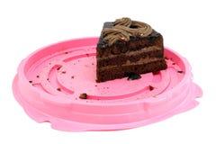 巧克力蛋糕前个片断  库存照片