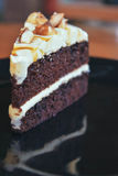巧克力蛋糕杏仁 免版税库存图片