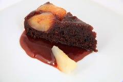 巧克力蛋糕片断用果子 图库摄影