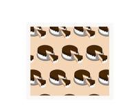 巧克力蛋糕的样式 库存图片
