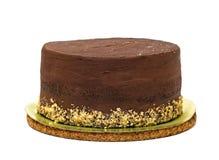 巧克力蛋糕洒与面包屑 免版税库存照片