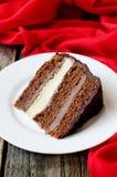 巧克力蛋糕 免版税库存照片