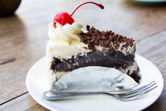 巧克力蛋糕 图库摄影