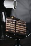 巧克力蛋糕 免版税图库摄影