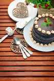巧克力蛋糕 库存照片