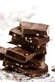 巧克力螺母平板 免版税图库摄影