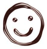 巧克力表面微笑 免版税库存图片