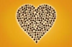巧克力被形成的重点果仁糖 库存图片