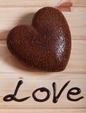 巧克力被烘烤以心脏的形式 日s华伦泰 免版税库存图片