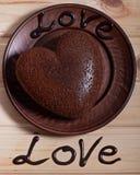 巧克力被烘烤以心脏的形式 日s华伦泰 免版税库存照片