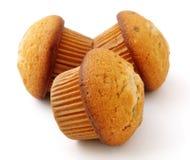 巧克力装载的松饼 免版税库存图片