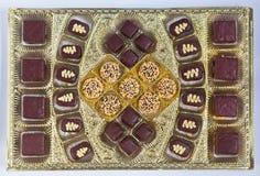 巧克力装饰点心糖果 免版税库存照片