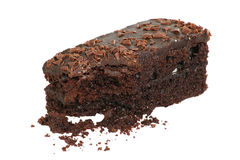 巧克力软糖蛋糕切片 库存照片