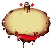 巧克力邀请 库存图片