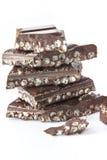 巧克力部分 免版税库存照片