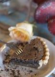 巧克力酪乳饼 库存照片