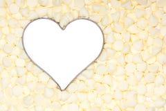 巧克力重点少量银周围白色 图库摄影