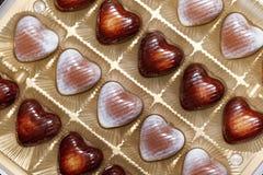 巧克力重点形状 免版税库存照片