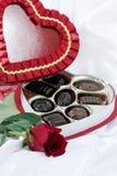 巧克力重点玫瑰色华伦泰 库存图片