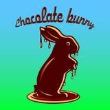 巧克力野兔熔化了与巧克力小滴,在青g的动画片 皇族释放例证