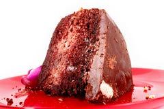 巧克力雪芳蛋糕 库存照片