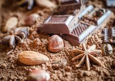 巧克力静物画 免版税库存照片