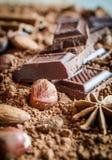 巧克力静物画 图库摄影