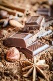 巧克力静物画 库存图片