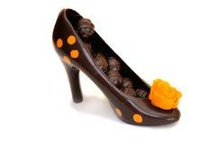 黑巧克力鞋子 图库摄影
