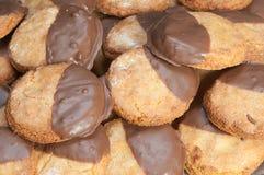 巧克力饼干用牛奶 免版税库存图片