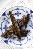 巧克力饼干 库存照片