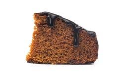 巧克力饼片断与融解顶部的 免版税库存照片