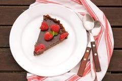 巧克力馅饼用莓 免版税库存照片