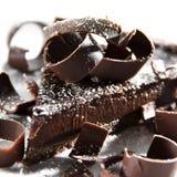 巧克力馅饼 免版税库存照片