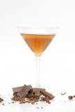 巧克力马蒂尼鸡尾酒 免版税库存照片