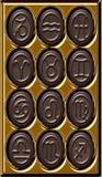 巧克力黄道带 免版税库存图片