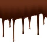 巧克力滴下无缝热的例证 免版税库存照片