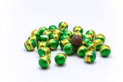 巧克力绿色球 免版税库存图片